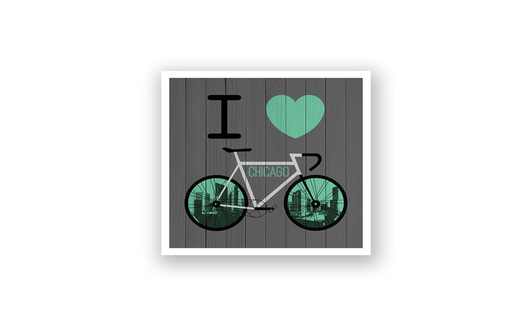 Chicago City Skyline Bicycle At