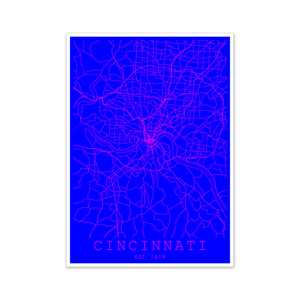 Cincinnati Pink and Blue