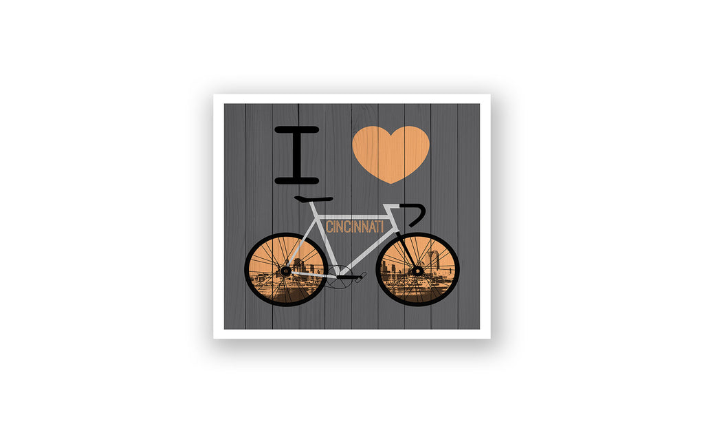 Cincinnati City Skyline Bicycle At