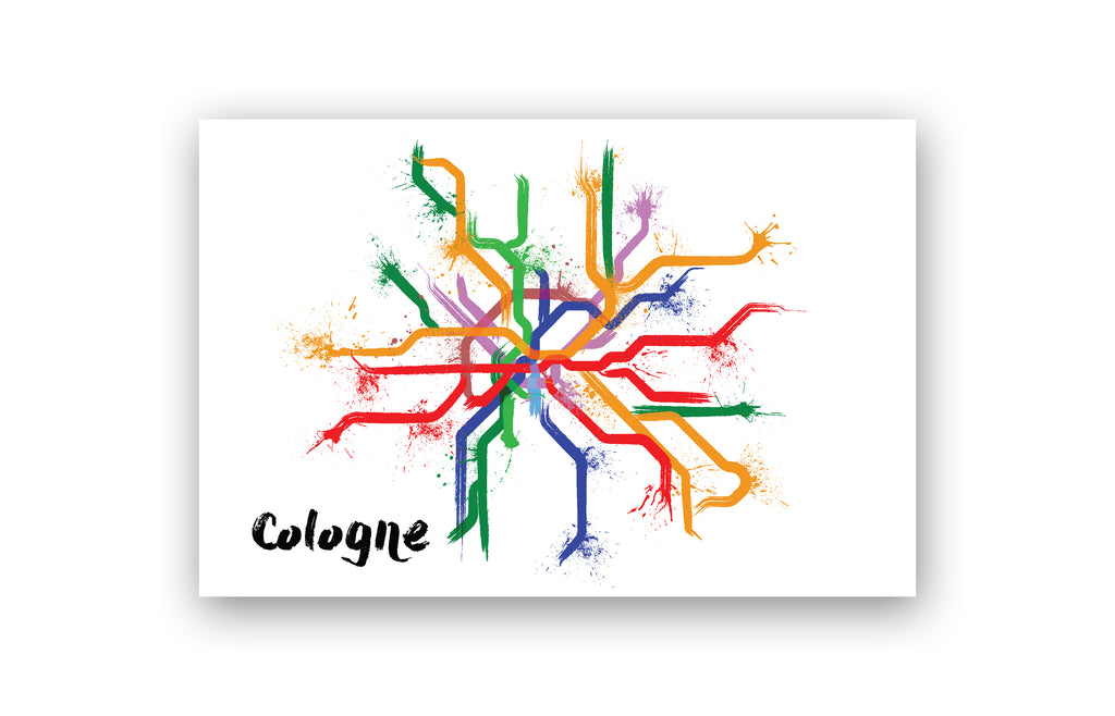 World Splatter Railroad Map Cologne