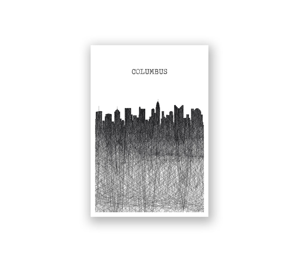Columbus Pencil Skyline