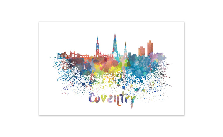 World Watercolor Skyline - Coventry