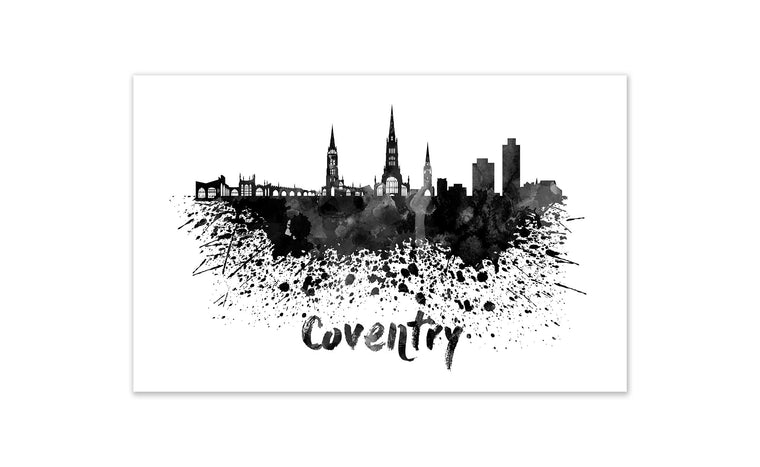 Black and White World Splatter Skyline Coventry