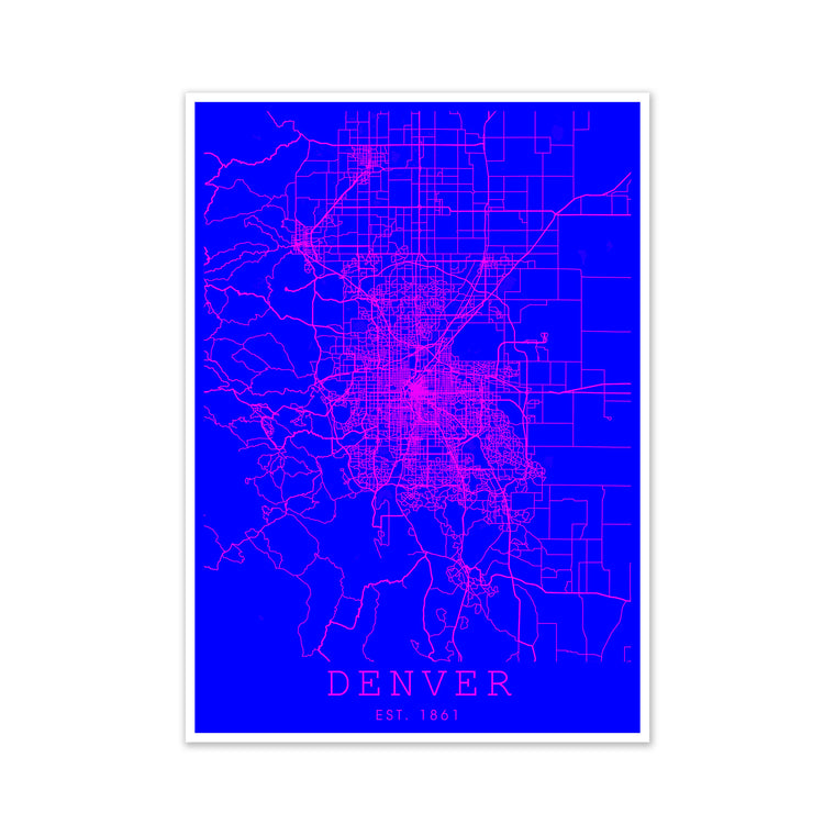 Denver Pink and Blue
