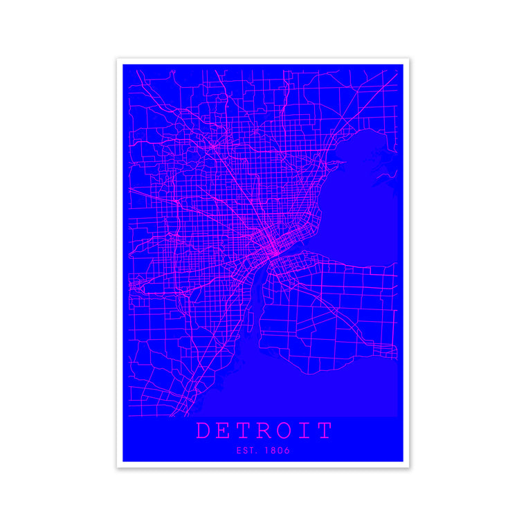 Detroit Pink and Blue