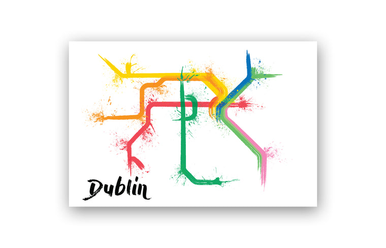 World Splatter Railroad Map Dublin