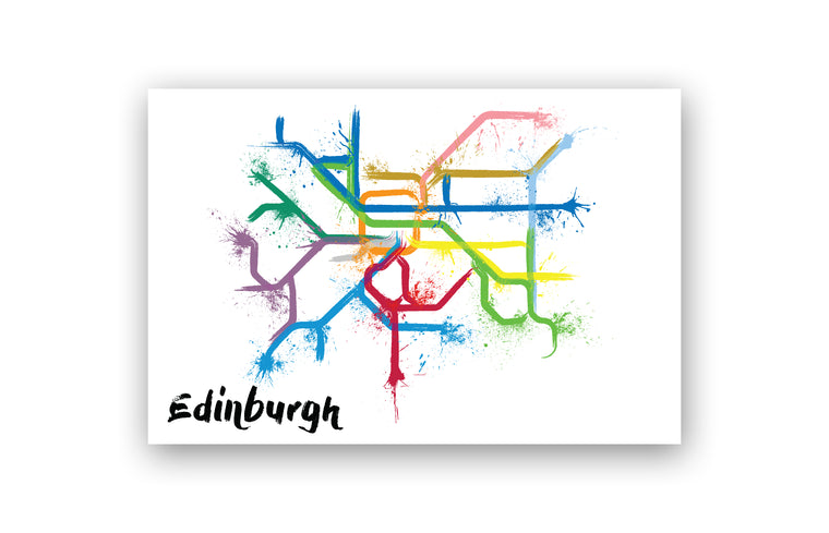 World Splatter Railroad Map Edinburgh