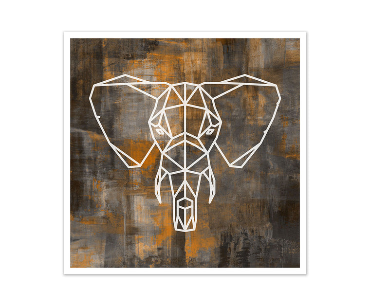 Elephant Geometric Art