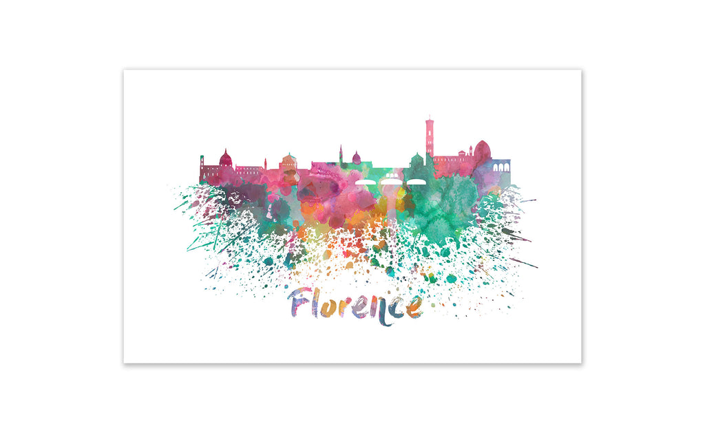 World Watercolor Skyline - Florence