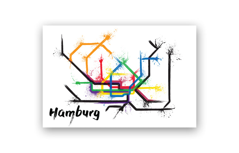 World Splatter Railroad Map Hamburg