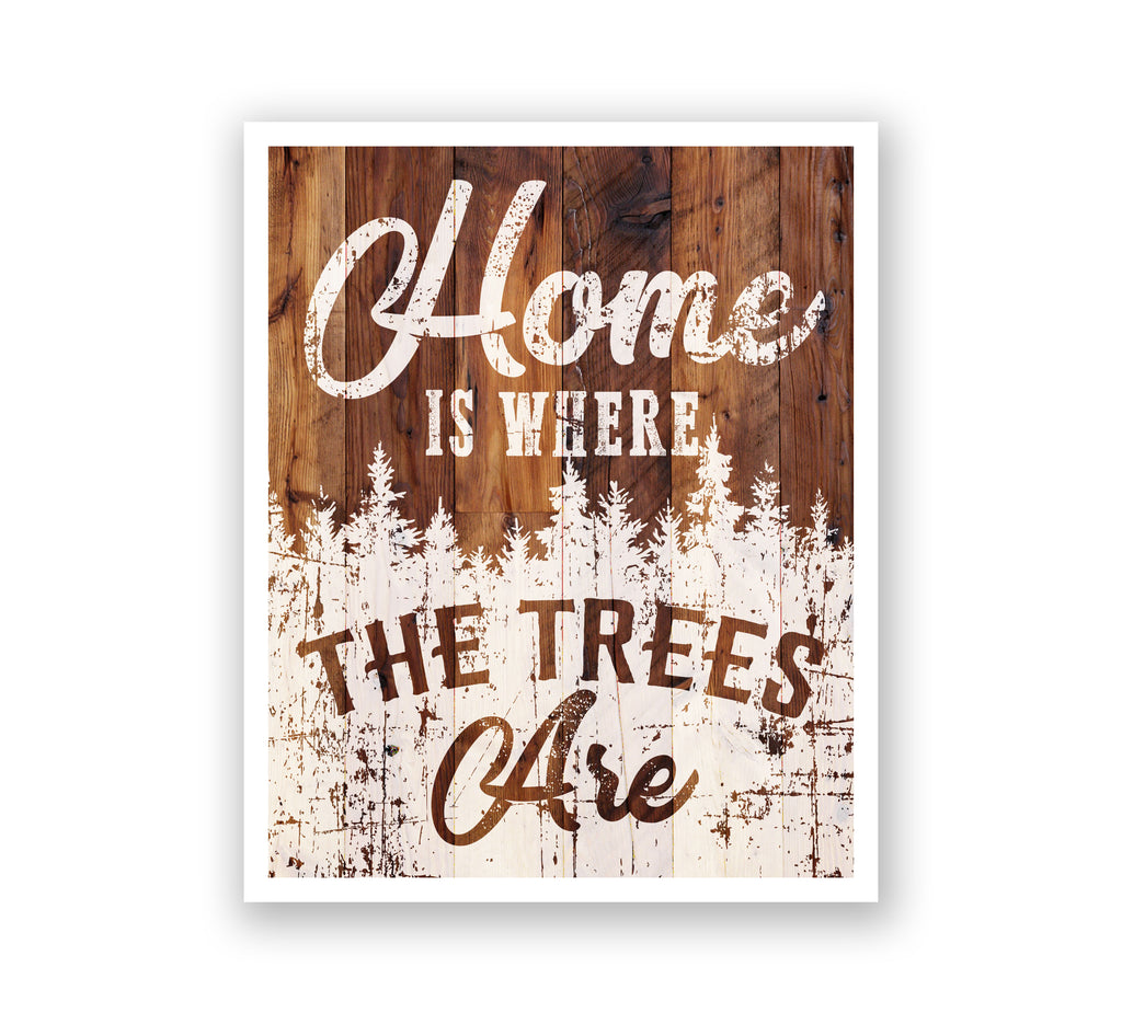 Wooden Wall Art - Home Sweet Home Antlers