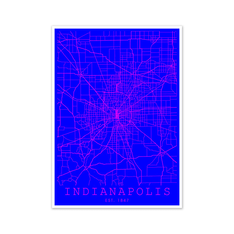 Indianapolis Pink and Blue