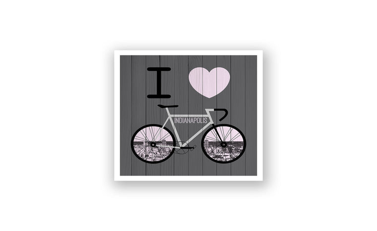 Indianapolis City Skyline Bicycle At