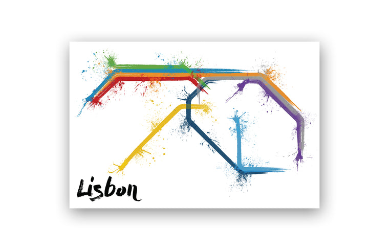 World Splatter Railroad Map Lisbon
