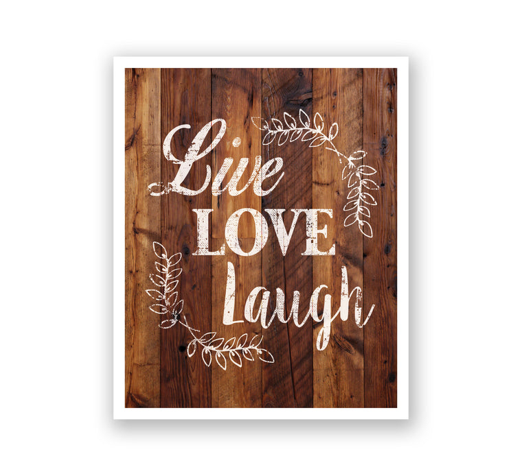 Wooden Wall Art - Live Love Laugh