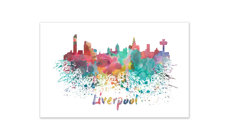World Watercolor Skyline - Liverpool