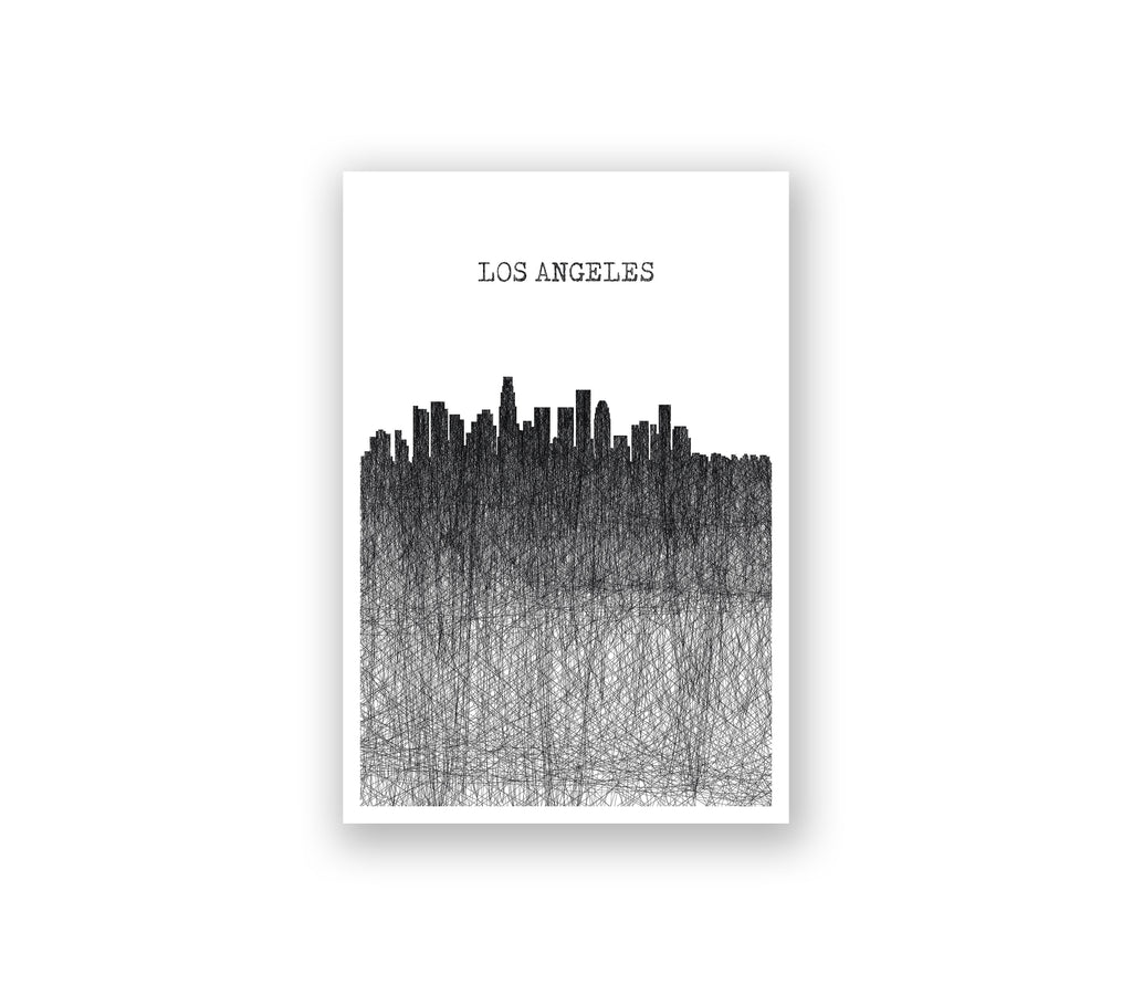 Los Angeles Pencil Skyline