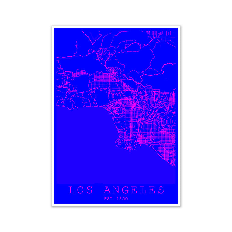 Los Angeles Pink and Blue