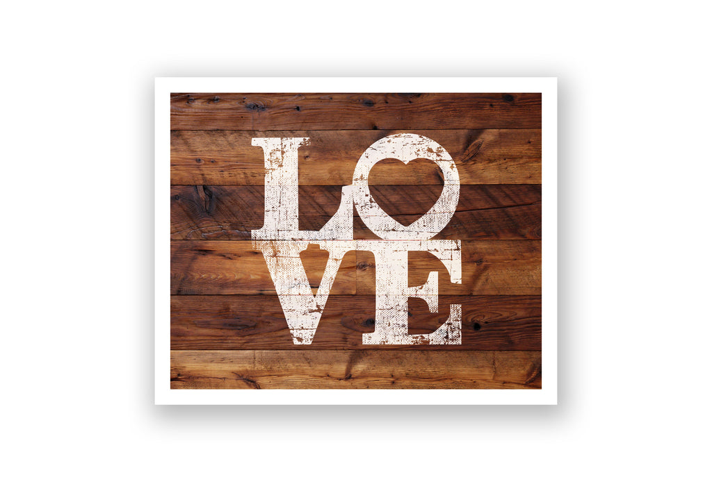 Wooden Wall Art - Love