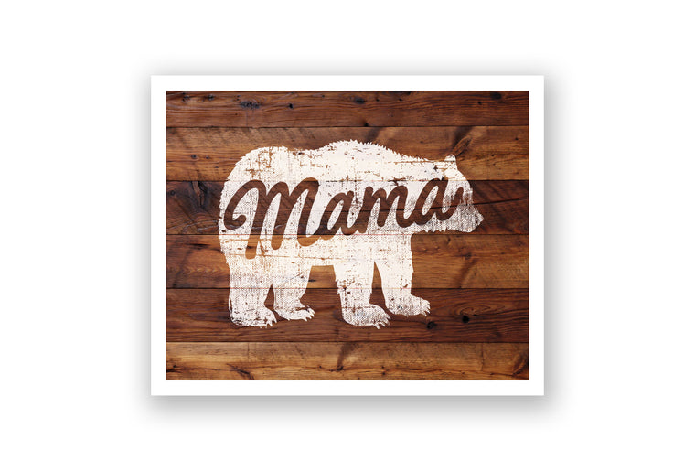Wooden Wall Art - Mama Bear