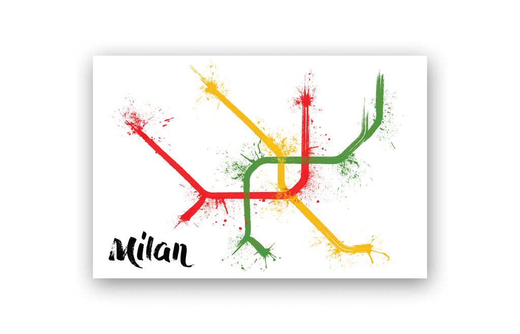 World Splatter Railroad Map Milan