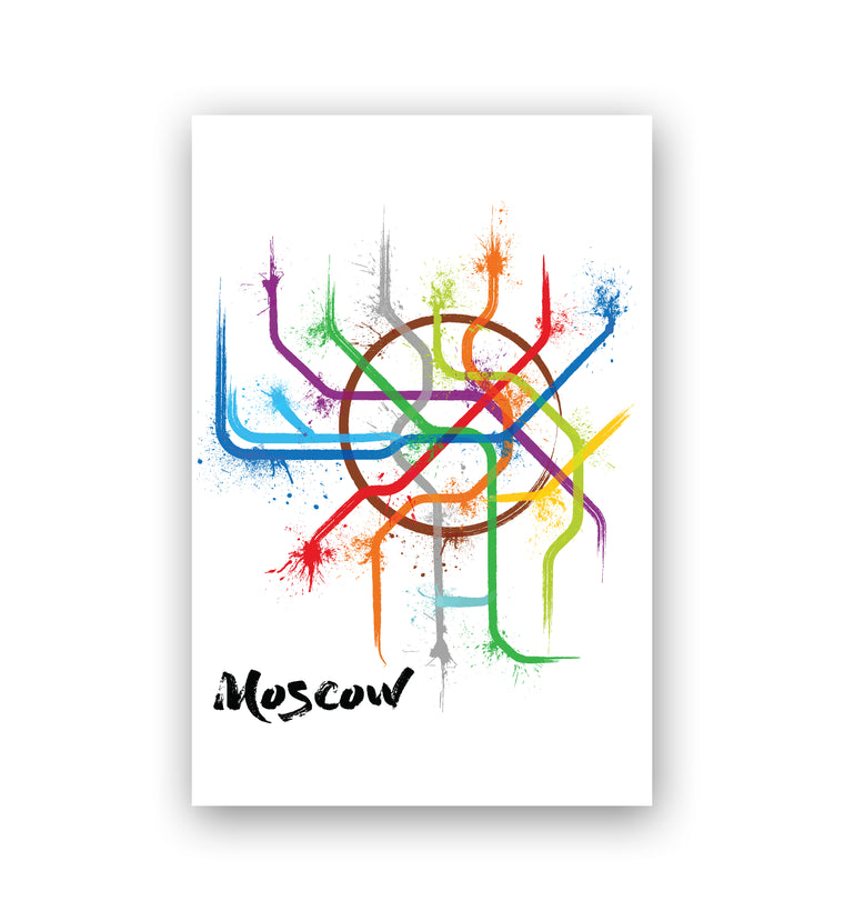 World Splatter Railroad Map Moscow