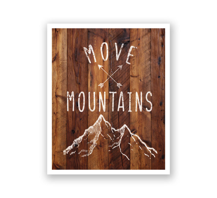 Wooden Wall Art - Move Mountains