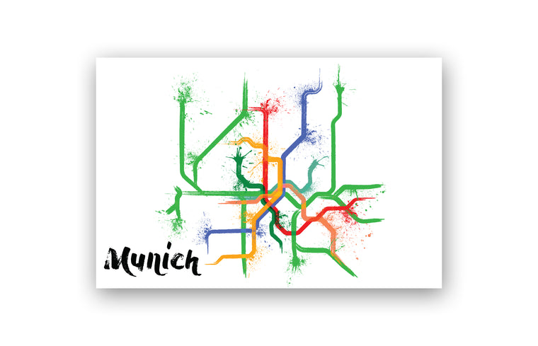 World Splatter Railroad Map Munich