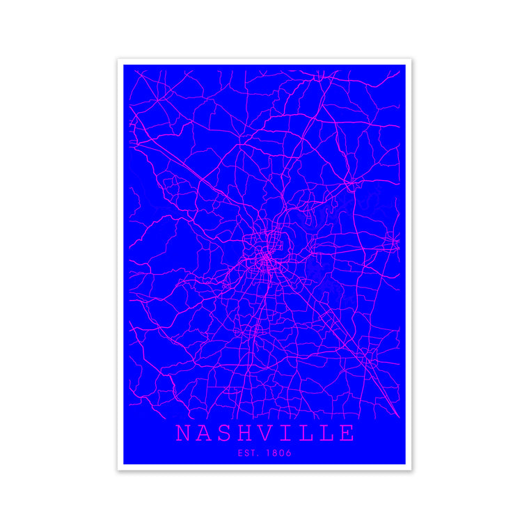 Nashville Pink and Blue