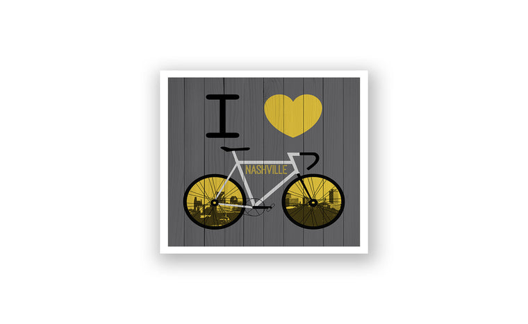 Nashville City Skyline Bicycle At
