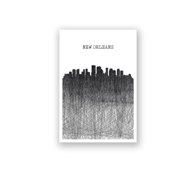 New Orleans Pencil Skyline