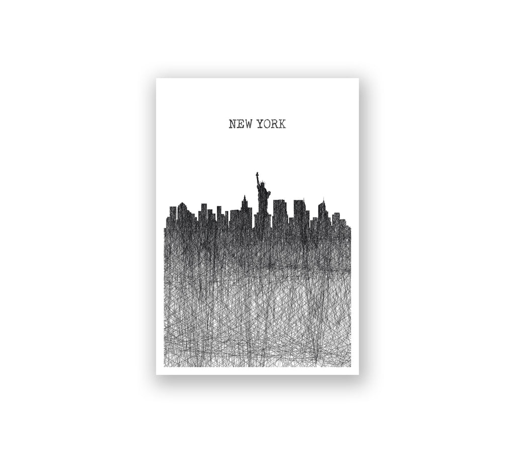 New York Pencil Skyline