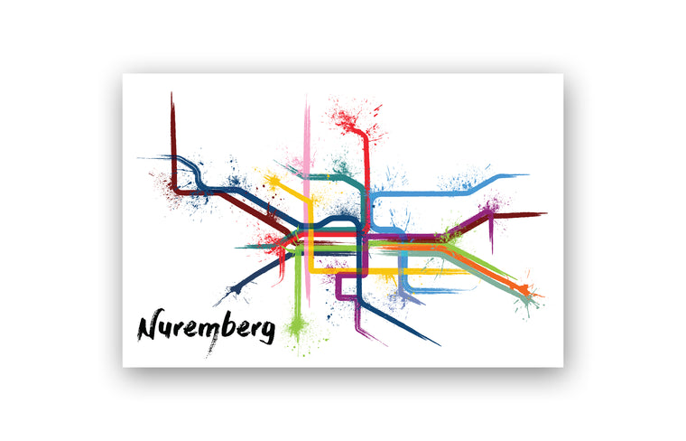 World Splatter Railroad Map Nuremberg