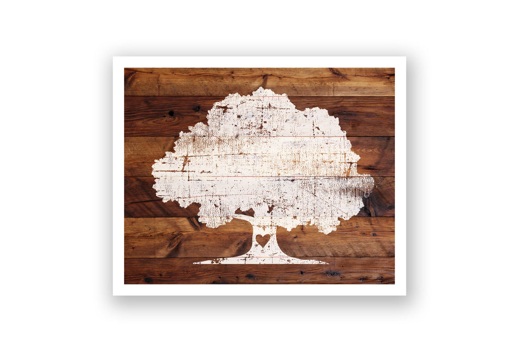 Wooden Wall Art - Oak Heart