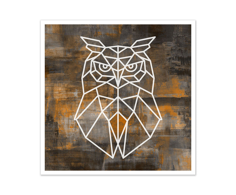 Owl Geometric Art