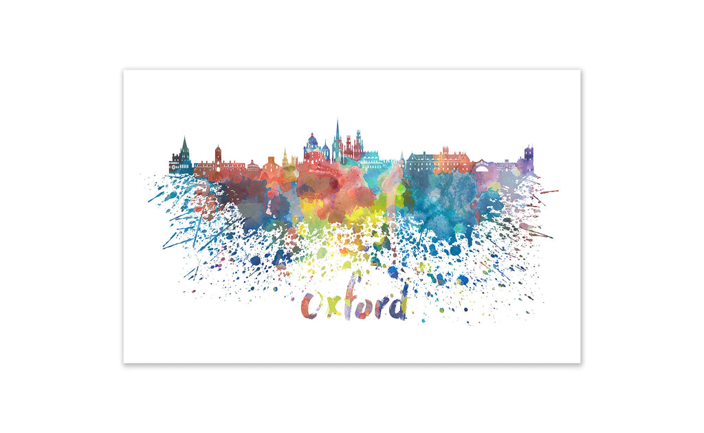 World Watercolor Skyline - Oxford