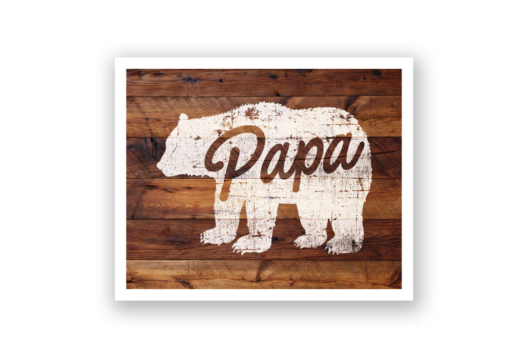 Wooden Wall Art - Papa Bear