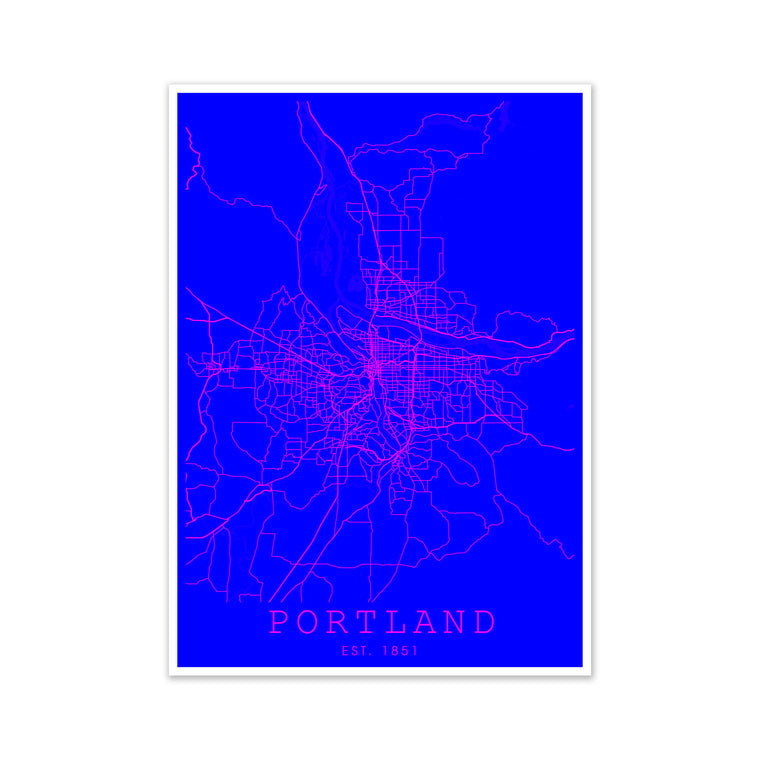 Portland Pink and Blue