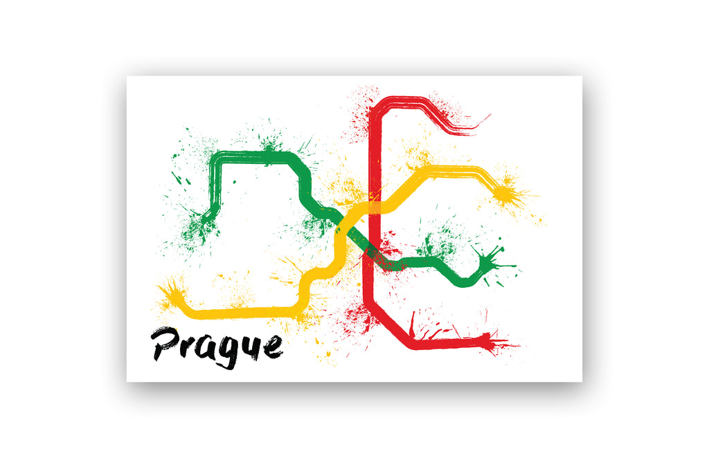 World Splatter Railroad Map Prague