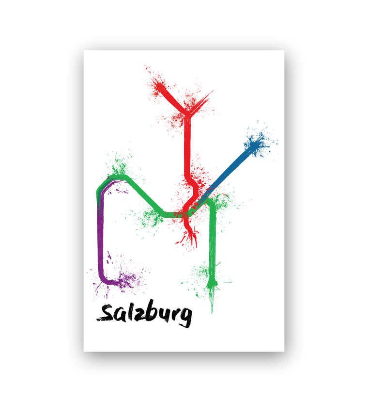World Splatter Railroad Map Salzburg