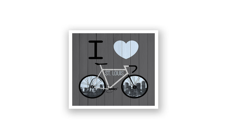 St. Louis City Skyline Bicycle At