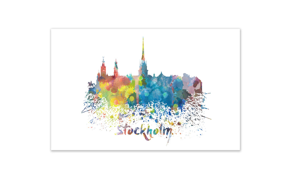 World Watercolor Skyline - St. Petersburg