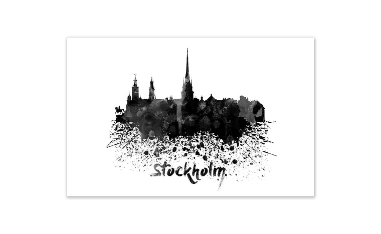 Black and White World Splatter Skyline StPetersburg