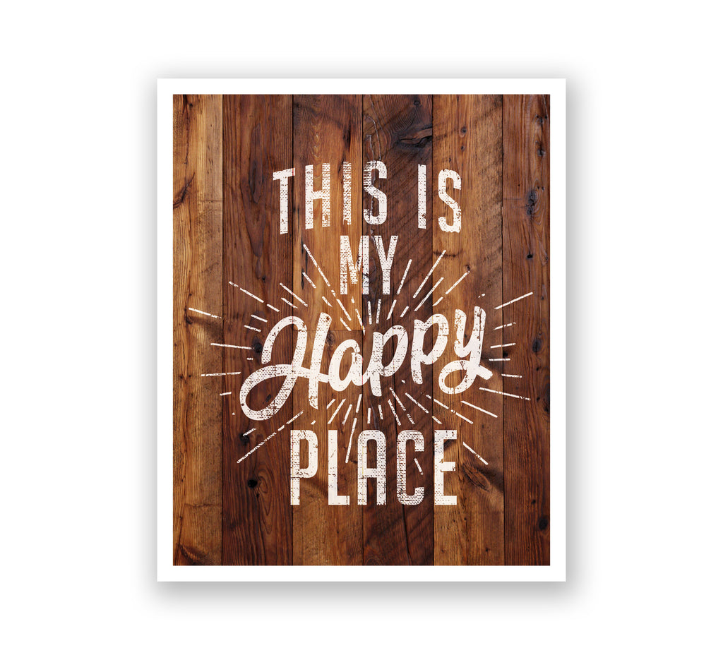 Wooden Wall Art - This is My Happy Place