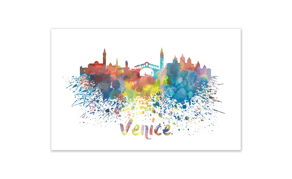 World Watercolor Skyline - Venice
