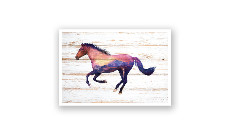 Horizon Horse Watercolor