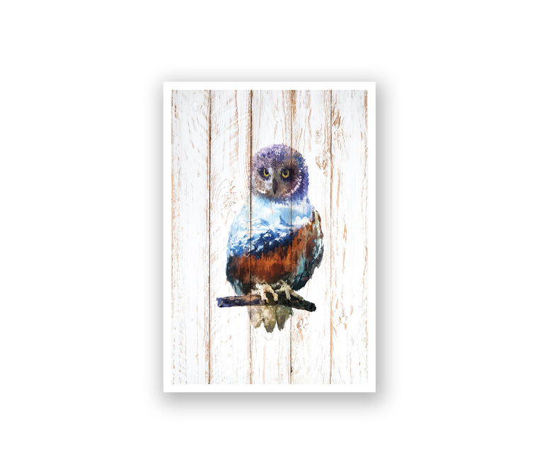 Woods Owl Watercolor