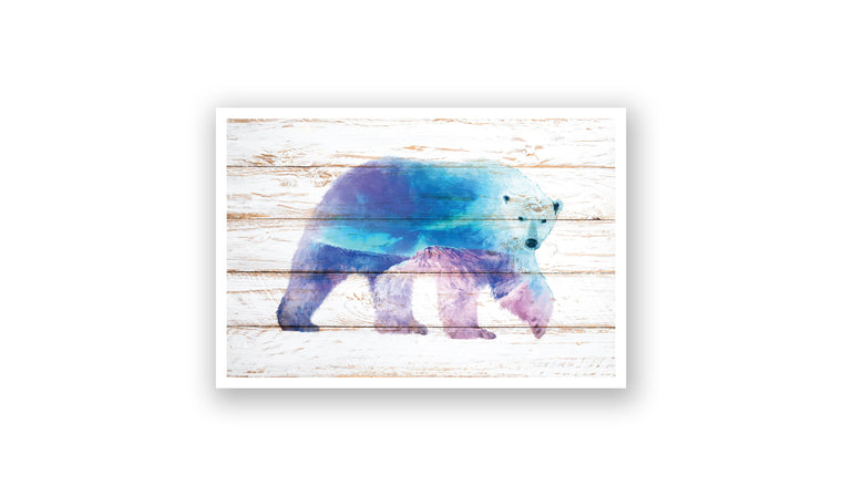 Mountain Polar Bear Watercolor