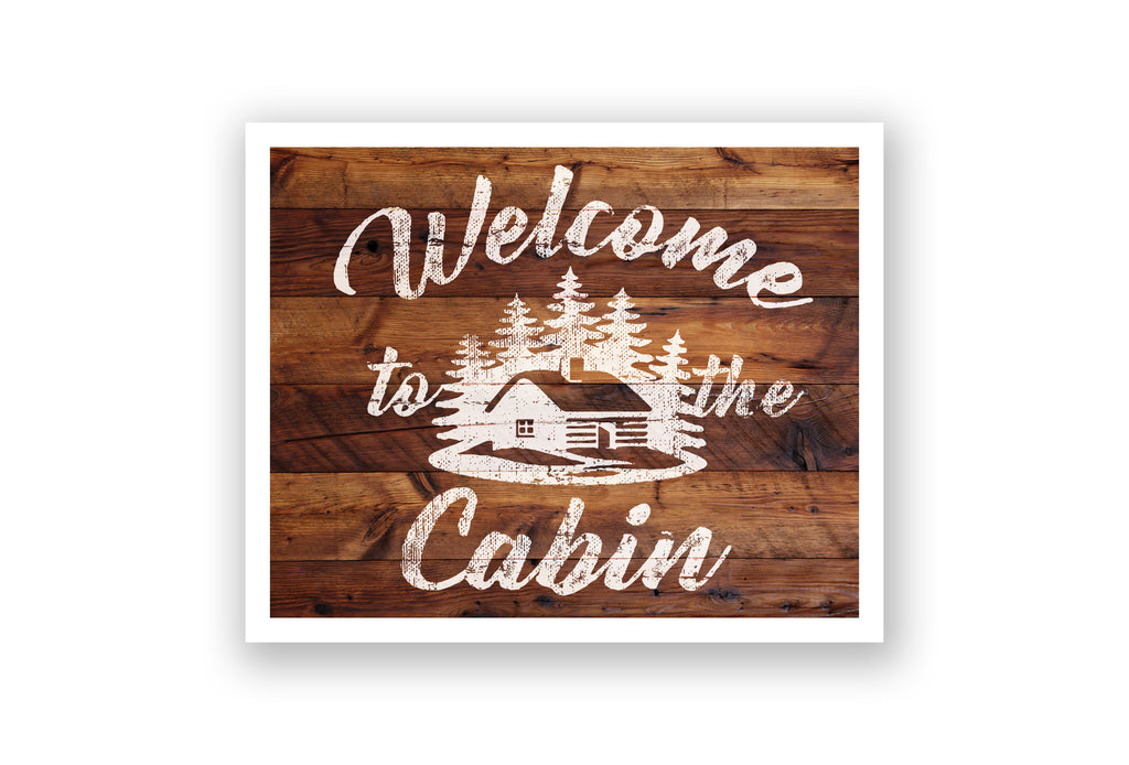 Wooden Wall Art - Welcome to the Cabin