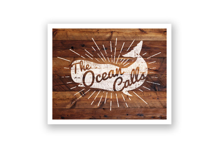 Wooden Wall Art - Whale The Ocean Calls